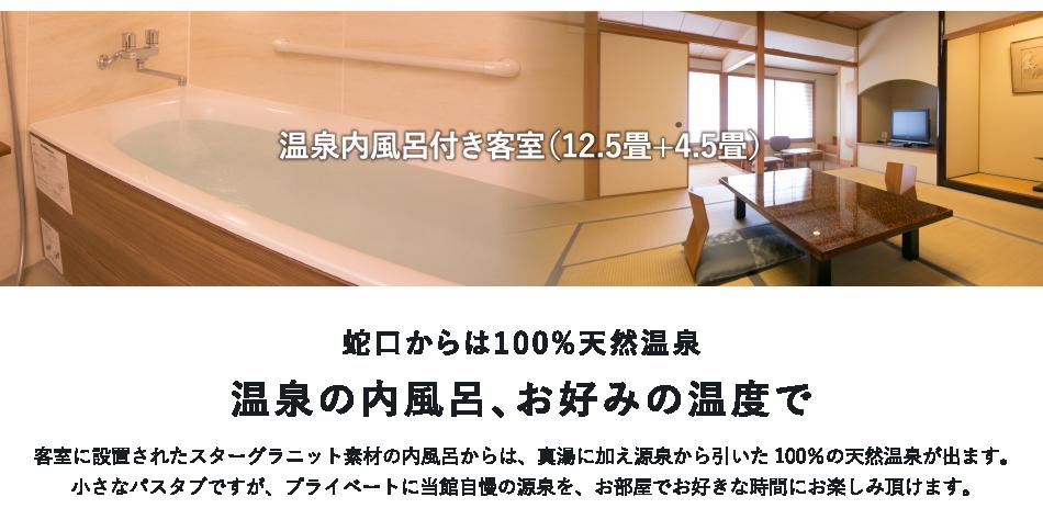 温泉内風呂付き客室(12.5畳+4.5畳)