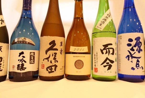 [而今・磯自慢・獺祭・醸し人九平治・・・等々]古屋旅館は日本酒にこだわります。
