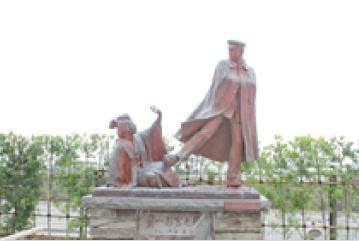 朝の散策(お宮の松/貫一・お宮の像)