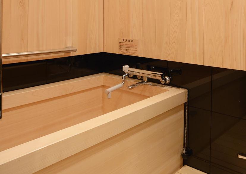ひのき造りの温泉内風呂付き客室(12.5畳)